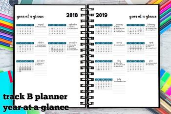 Year at a Glance 2018-2019 Track B Calendar