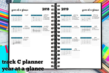 Year at a Glance 2018-2019 Track C Calendar