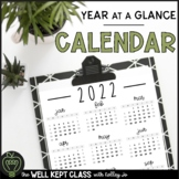 2018 Year at a Glance Calendar (FREE UPGRADES)