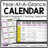 Year at a Glance Calendar & Unit Planning Templates (Editable)