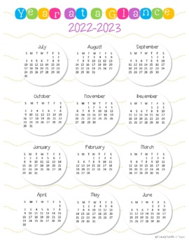 Year at a Glance Calendars 2016-17