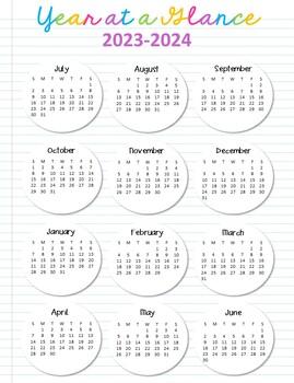 Year at a Glance Calendars 2017-18