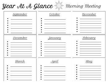 Year at a Glance Planner bundle