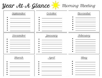 Year at a Glance Planner bundle COLOR