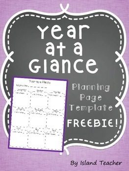 Year at a Glance Planning Page Template FREEBIE!