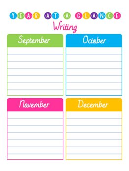 Year at a Glance Planning Pages