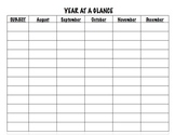 Year at a Glance (blank)