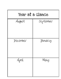 Year at a glance template