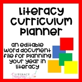 Year in Literacy Planning Sheet