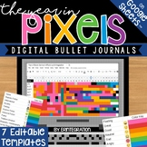 Year in Pixels Digital Bullet Journal Templates on Google Sheets
