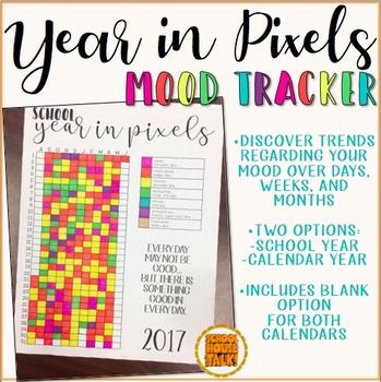 Year in Pixels Mood Tracker {freebie}