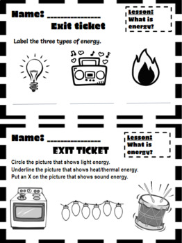 Year long Science Exit Tickets