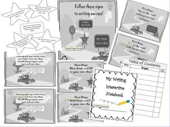 Year long Tool: 3rd CCSS Grade Writing Interactive Noteboo
