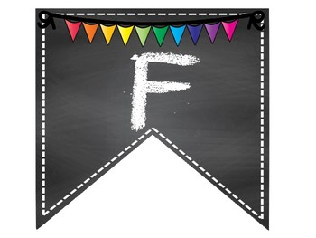 Year long banner bulletin board pennants for Fall Winter Spring
