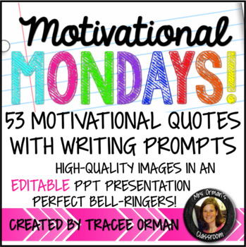 Year of Bell Ringers: Motivational Monday Quotes & Prompts for Growth Mindset