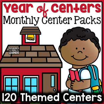 Year of Centers - Kindergarten Math and Literacy Bundle
