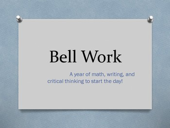 Year of Daily Bell Work (Bell Ringers)