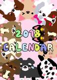 Year of Dog Zodiac 2018 Cute Calendar
