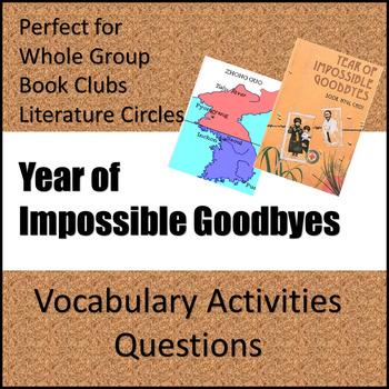 Year of Impossible Goodbyes - Novel Study