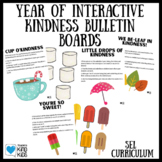 Year of Interactive Bulletin Boards for Kindness Activities and SEL Curriculum