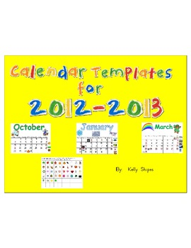 Year of Monthly Calendars
