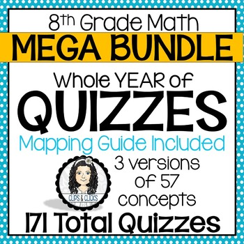 Year of QUIZZES for 8th Grade Math