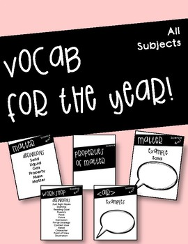 Year of Vocab (Second Grade Standards Aligned)