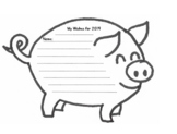 Year of the Pig Writing Activity Craft