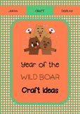 Year of the Wild Boar - craft and display activities for the Japanese classroom