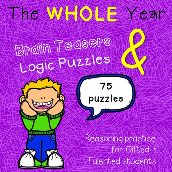 Year-round Brain Teasers & Logic Puzzles BUNDLE