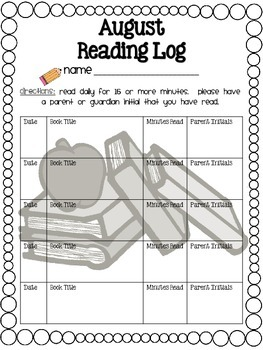 Reading Log Year-Round