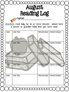 Reading Log Year-Round