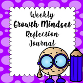 Growth Mindset Reflection Journal -  One each week for 35 weeks!