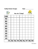 Year's Worth of Reading Practice Passages - Student Chart