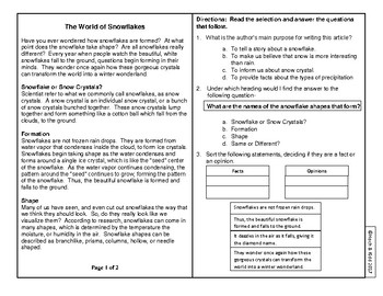 Year's Worth of Reading Practice Passages - Test Format - Unit 3