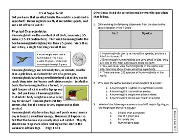 Year's Worth of Reading Practice Passages - Test Format - Unit 4