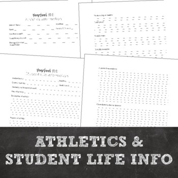 Yearbook 101: Organization Tips, Story Ideas, Interview Worksheets