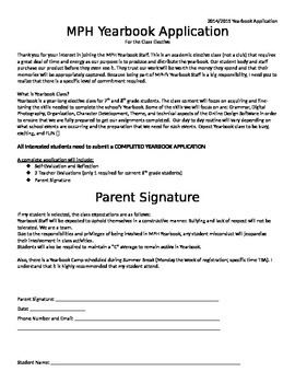 Yearbook Application