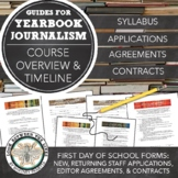 Yearbook Beginning Forms: Staff Application, Contract, Syllabus, & Editor Roles