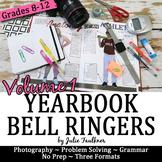 Yearbook Class 100 Days of Bell Ringer Class Starter Activities, Volume 1