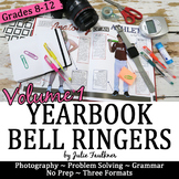 Yearbook Class 100 Days of Bell Ringer Class Starter Activities, Volume 1