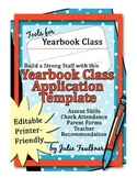 Yearbook Staff Application and Parent/Student Contract -Editable Template