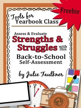 Yearbook Class Back to School Self-Assessment Strengths & Struggles {FREEBIE}