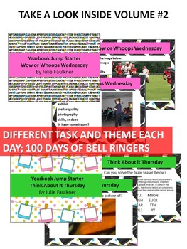 Yearbook Class Bell Ringer BUNDLE, Class Starter Activities, 200 Days Full Year