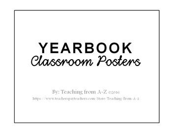 Yearbook Classroom Posters - Editable
