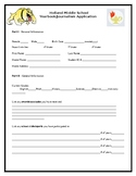 Yearbook Club Application
