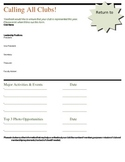 Yearbook: Club Info Form
