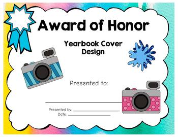 Yearbook Cover Artist Winner Awards!