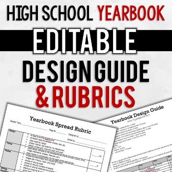 Yearbook Design Guide & Rubrics   EDITABLE