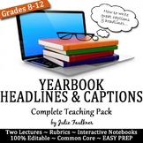 Yearbook Headlines and Captions Complete Teaching Pack